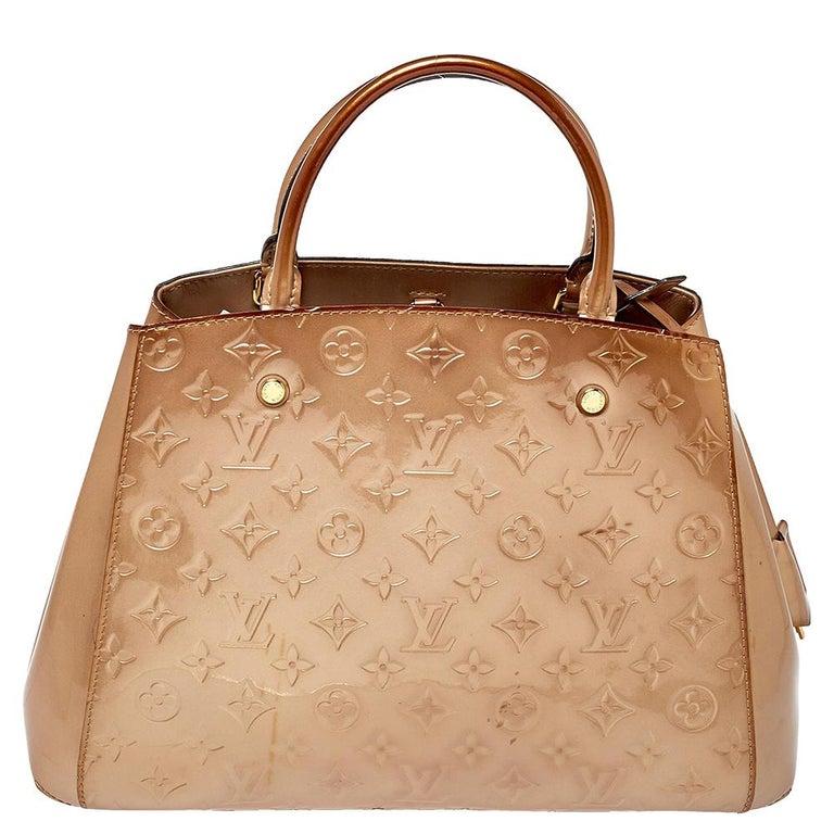 Louis Vuitton Beige Poudre Monogram Vernis Montaigne MM Bag 1