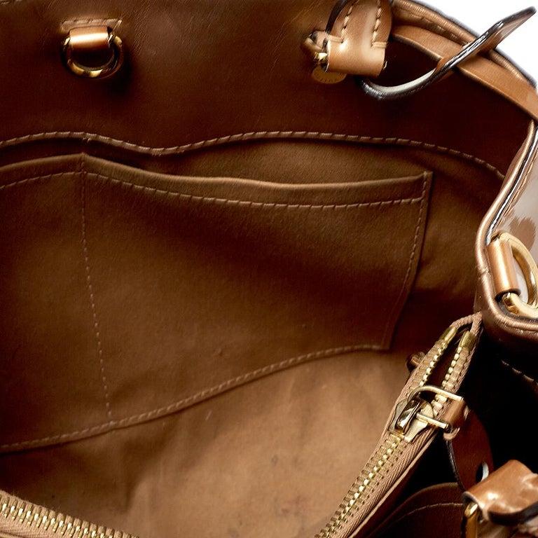Louis Vuitton Beige Poudre Monogram Vernis Montaigne MM Bag 2