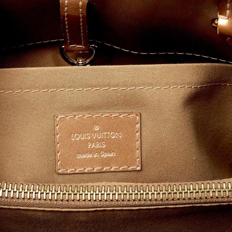 Louis Vuitton Beige Poudre Monogram Vernis Montaigne MM Bag 3