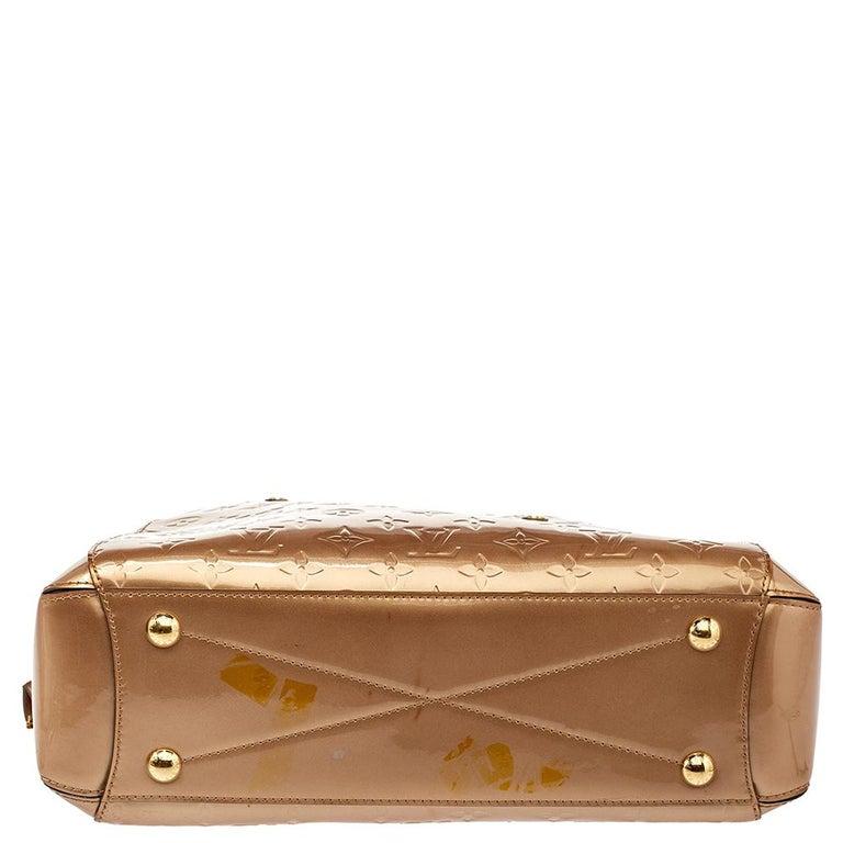 Louis Vuitton Beige Poudre Monogram Vernis Montaigne MM Bag 4