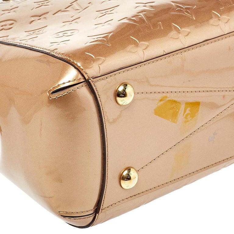 Louis Vuitton Beige Poudre Monogram Vernis Montaigne MM Bag 5