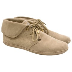 Louis Vuitton Beige Suede Monogram Moccasin Boot - Size EU 37