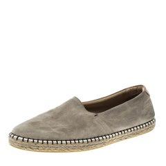 Louis Vuitton Beige Suede Slip On Espadrilles Size 44.5