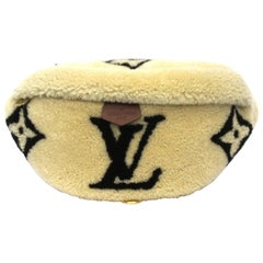 Louis Vuitton Beige Wool  Bum Bag