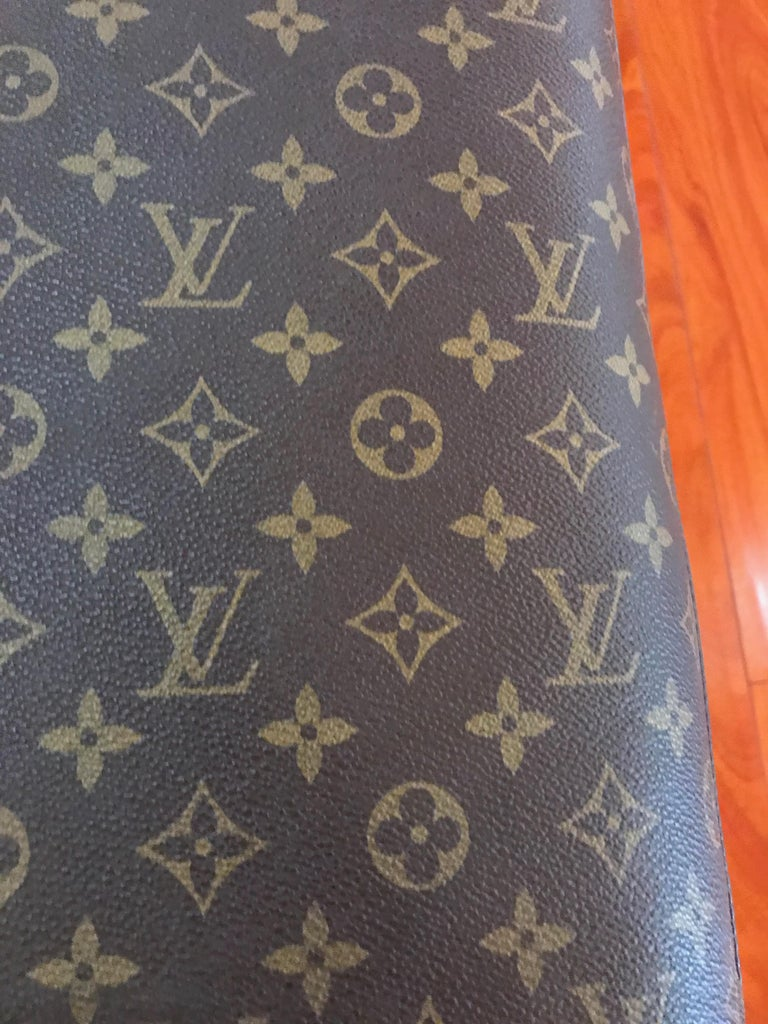 Louis Vuitton Bench with Brass Legs For Sale 4