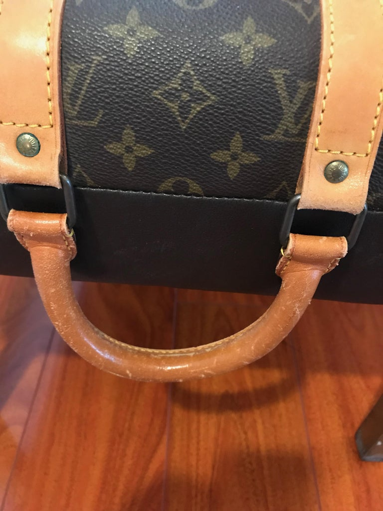 Louis Vuitton Bench with Brass Legs In Excellent Condition For Sale In North Bergen, NJ