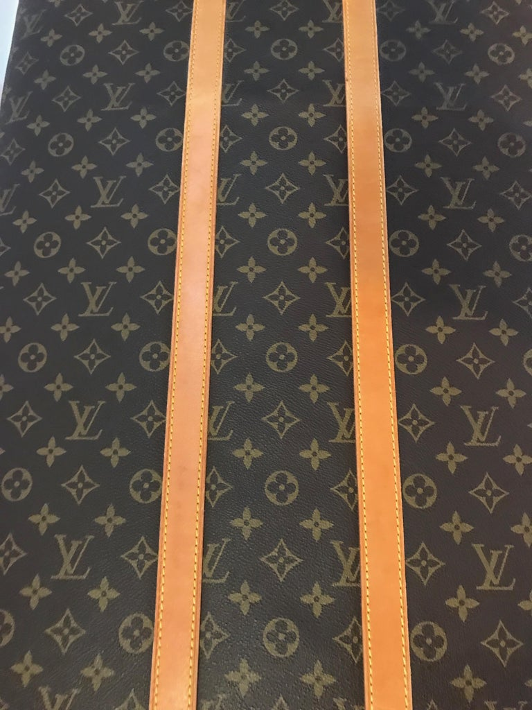 Louis Vuitton Bench with Brass Legs For Sale 1