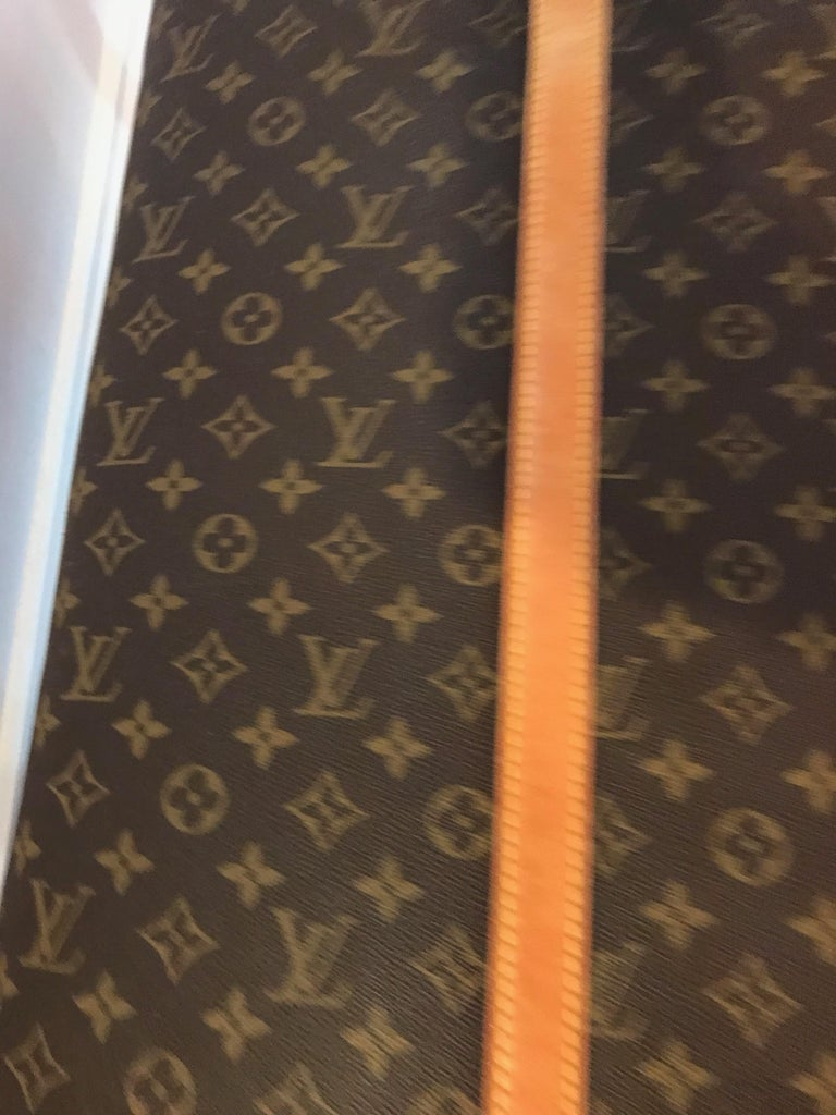 Louis Vuitton Bench with Brass Legs For Sale 2