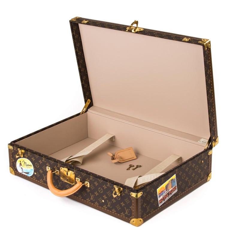 Louis Vuitton Bisten Suitcase 65 Monogram with Stickers For Sale 3