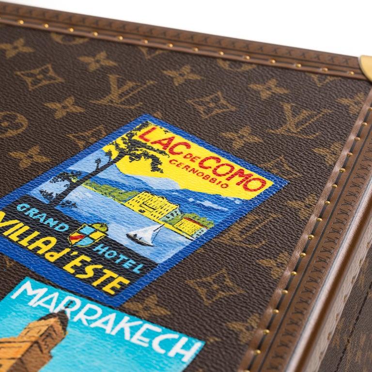 Louis Vuitton Bisten Suitcase 65 Monogram with Stickers For Sale 6