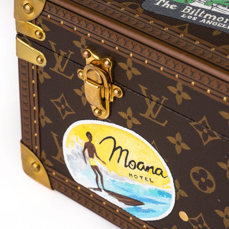 Louis Vuitton Bisten Suitcase 65 Monogram with Stickers For Sale 8