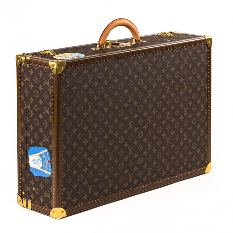 Louis Vuitton Bisten Suitcase 65 Monogram with Stickers In New Condition For Sale In Double Bay, NSW