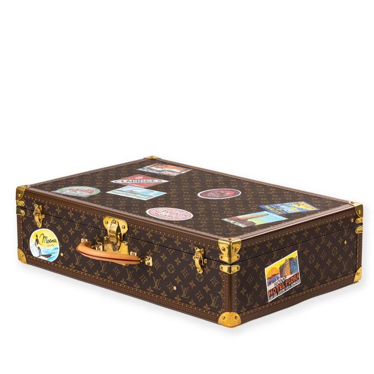 Louis Vuitton Bisten Suitcase 65 Monogram with Stickers For Sale 1