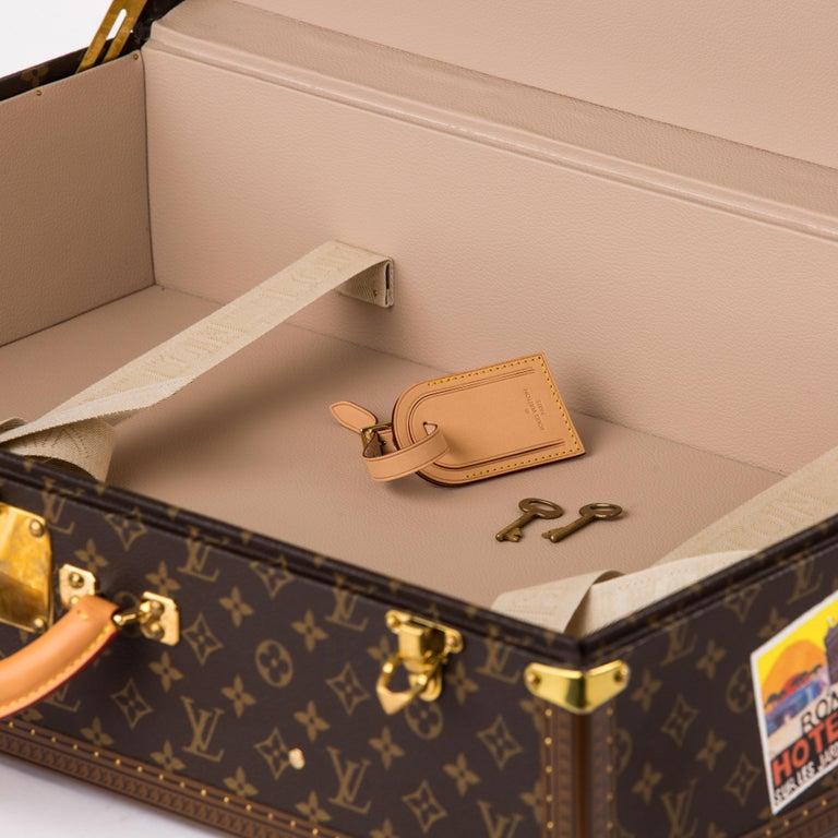 Louis Vuitton Bisten Suitcase 65 Monogram with Stickers For Sale 2