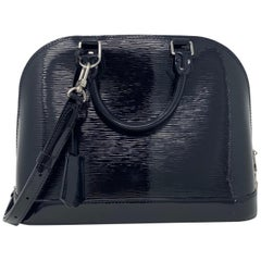 Louis Vuitton Black Alma PM Vernis Patent