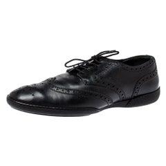 Louis Vuitton Black Brogue Leather Explorer Sneakers Size 43.5