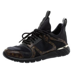 Louis Vuitton Black/Brown Fabric And Monogram Canvas Aftergame Sneakers Size 36