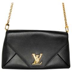 Louis Vuitton Black Calfskin Love Note Clutch