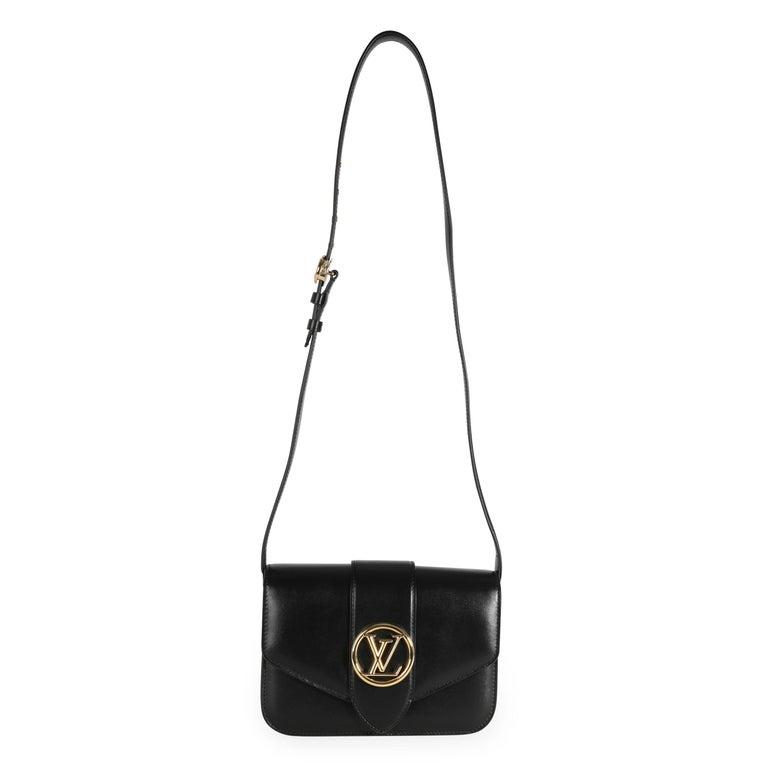 Louis Vuitton Black Calfskin LV Pont 9 SKU: 111055 MSRP: USD 3,900.00  Handbag Condition: Excellent Condition Comments: Excellent Condition. Faint mark to back of bag. Brand: Louis Vuitton Model: LV Pont 9 Origin Country: Italy Size (Generic):