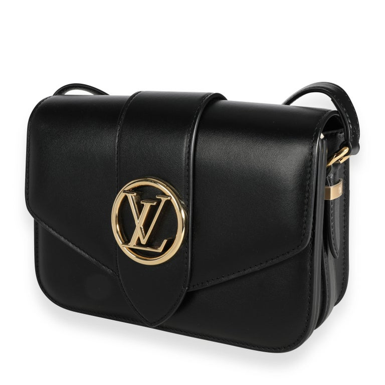 Louis Vuitton Black Calfskin LV Pont 9 In Excellent Condition For Sale In New York, NY
