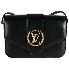 Louis Vuitton Black Calfskin LV Pont 9