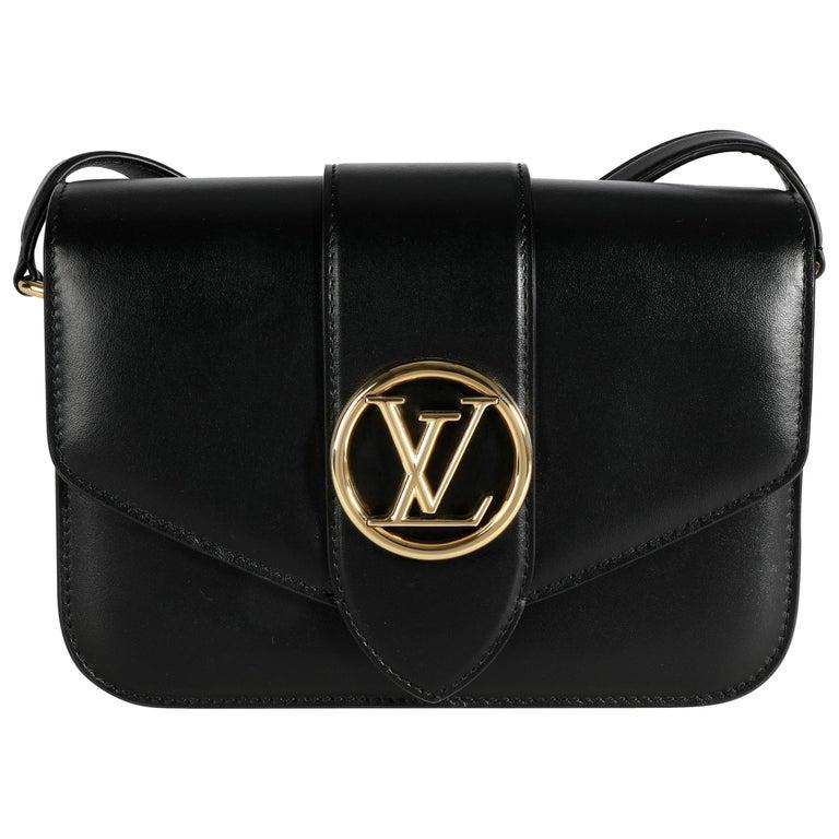 Louis Vuitton Black Calfskin LV Pont 9 For Sale