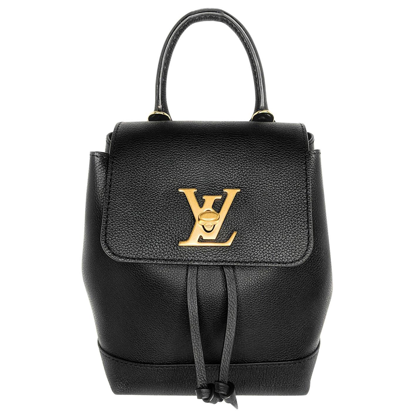 Louis Vuitton Black Calfskin Mini Lockme Backpack