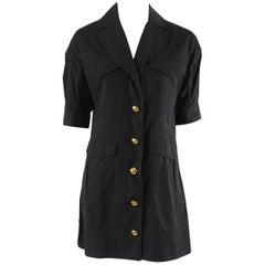 Louis Vuitton Black Cotton and Lambskin Short Sleeve Jacket - 38