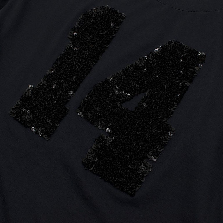 Louis Vuitton Black Cotton 'Paris' 14 Sequin Embellished T-shirt S For Sale 2
