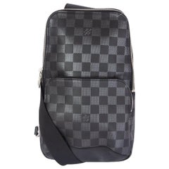LOUIS VUITTON black DAMIER INFINI AVENUE Sling Crossbody Bag
