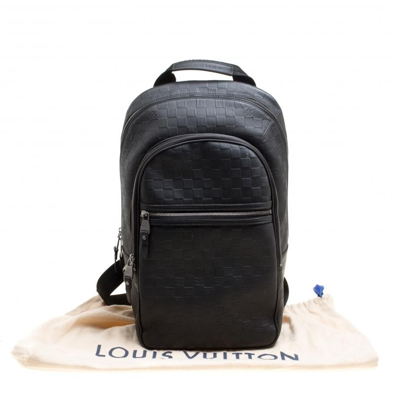 85a8a421df0c Louis Vuitton Black Damier Infini Leather Michael Backpack at 1stdibs