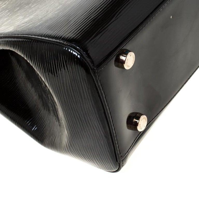 Louis Vuitton Black Electric Epi Leather Brea GM Bag For Sale 6