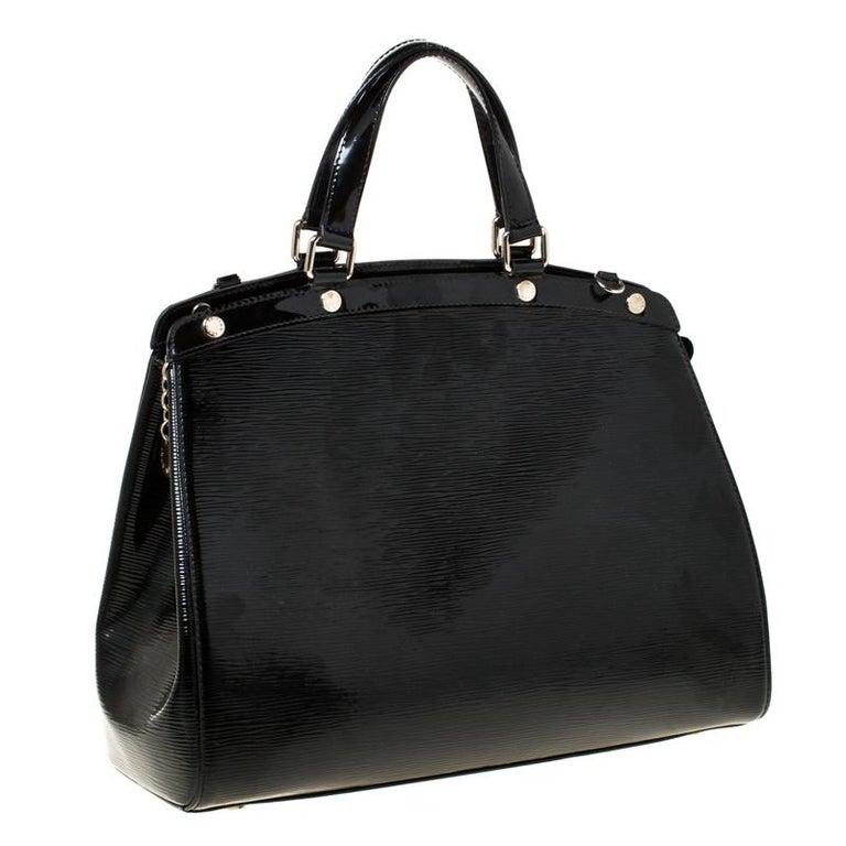 Women's Louis Vuitton Black Electric Epi Leather Brea GM Bag For Sale