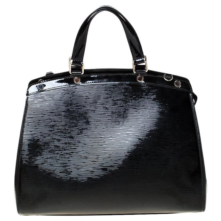 Louis Vuitton Black Electric Epi Leather Brea GM Bag For Sale