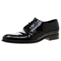 Louis Vuitton Black Electric Epi Leather Derby Shoes Size 42