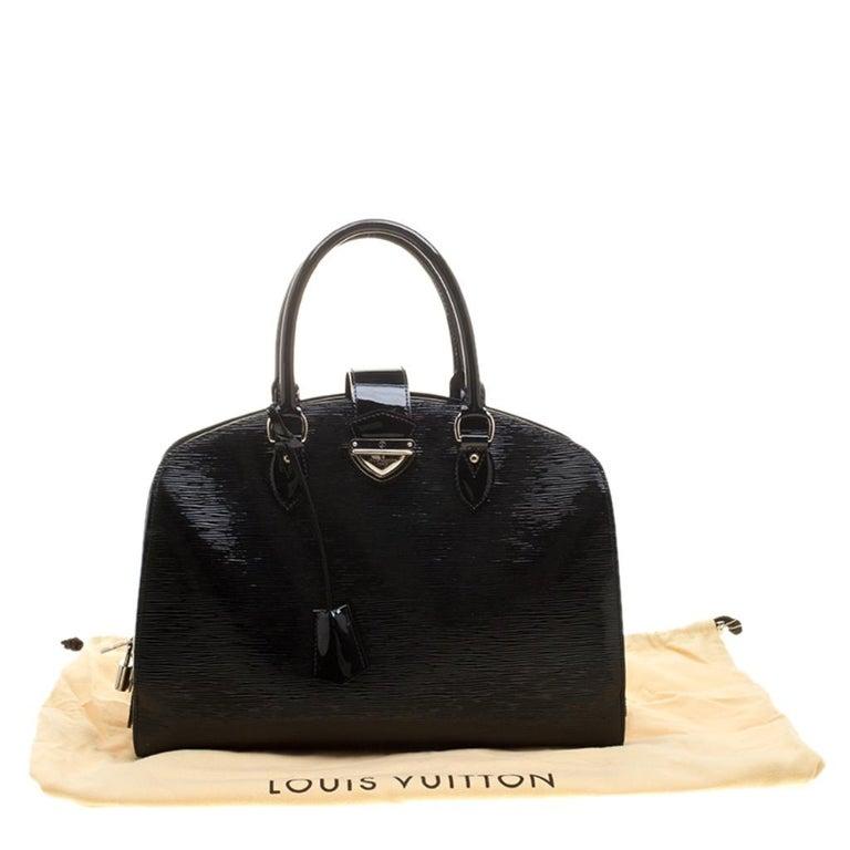 Louis Vuitton Black Electric Epi Leather Pont Neuf GM Bag For Sale 8