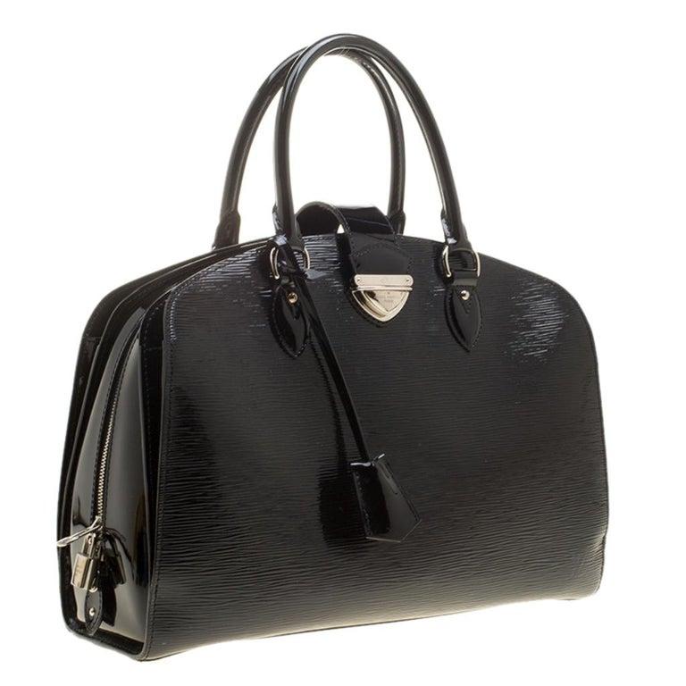 Women's Louis Vuitton Black Electric Epi Leather Pont Neuf GM Bag For Sale