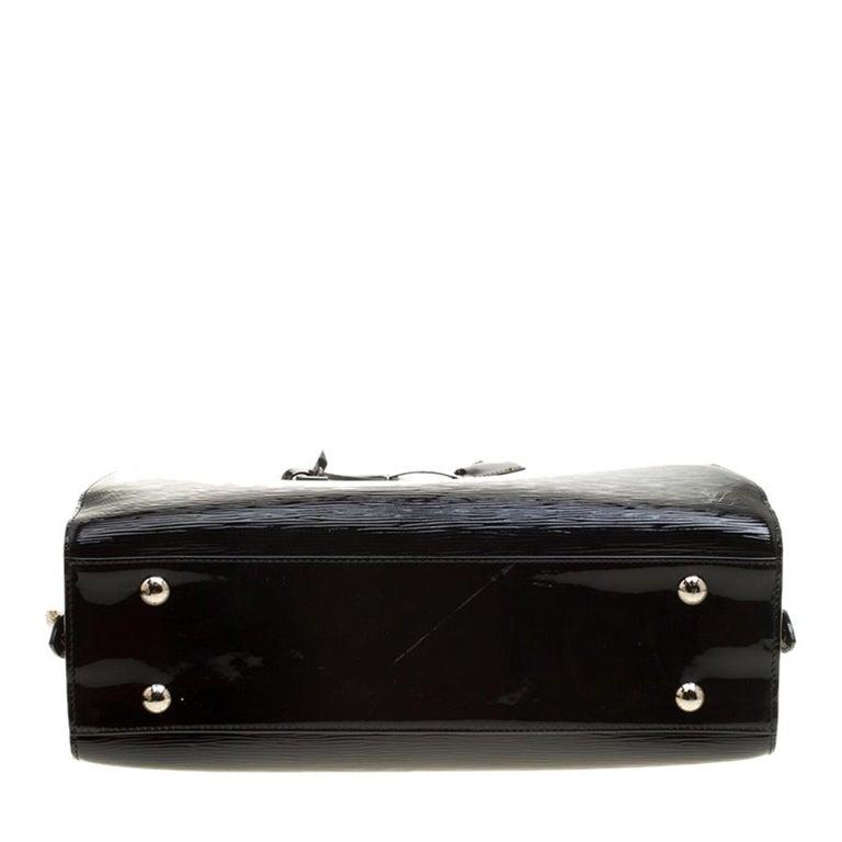 Louis Vuitton Black Electric Epi Leather Pont Neuf GM Bag For Sale 1