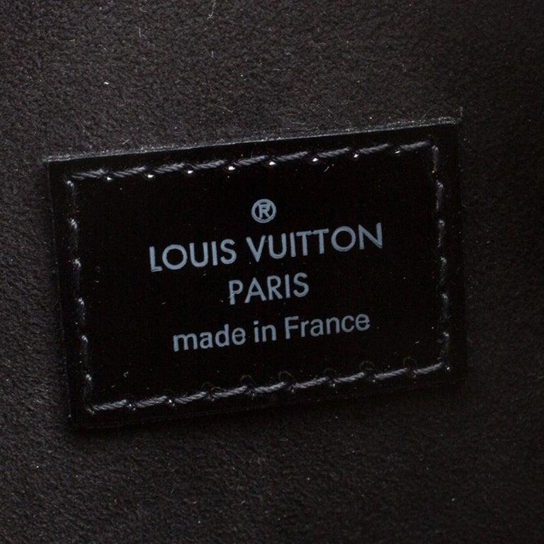 Louis Vuitton Black Electric Epi Leather Pont Neuf GM Bag For Sale 4