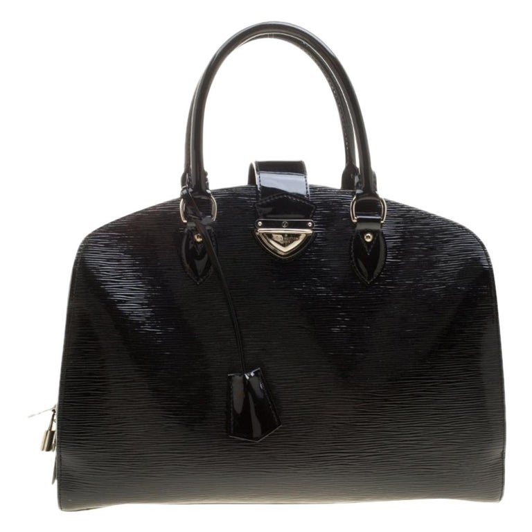 Louis Vuitton Black Electric Epi Leather Pont Neuf GM Bag For Sale
