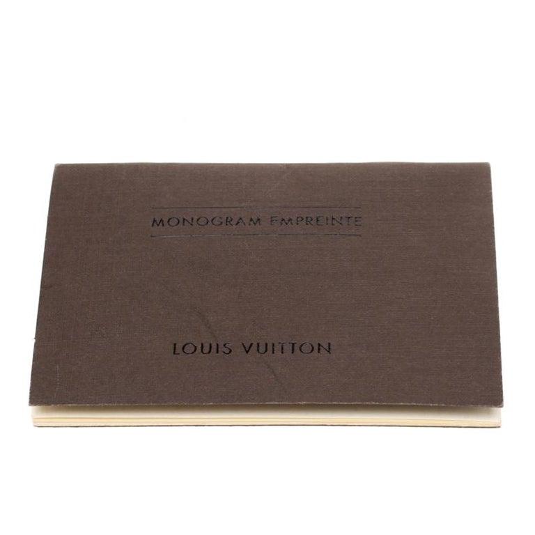 Louis Vuitton Black Empreinte Leather Lumineuse PM Bag For Sale 8