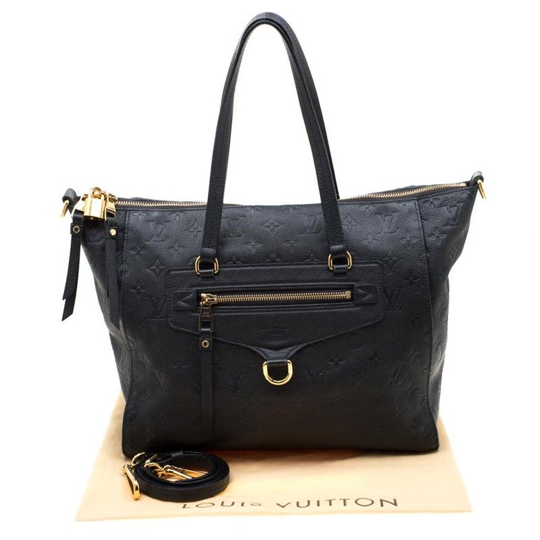Louis Vuitton Black Empreinte Leather Lumineuse PM Bag For Sale 9
