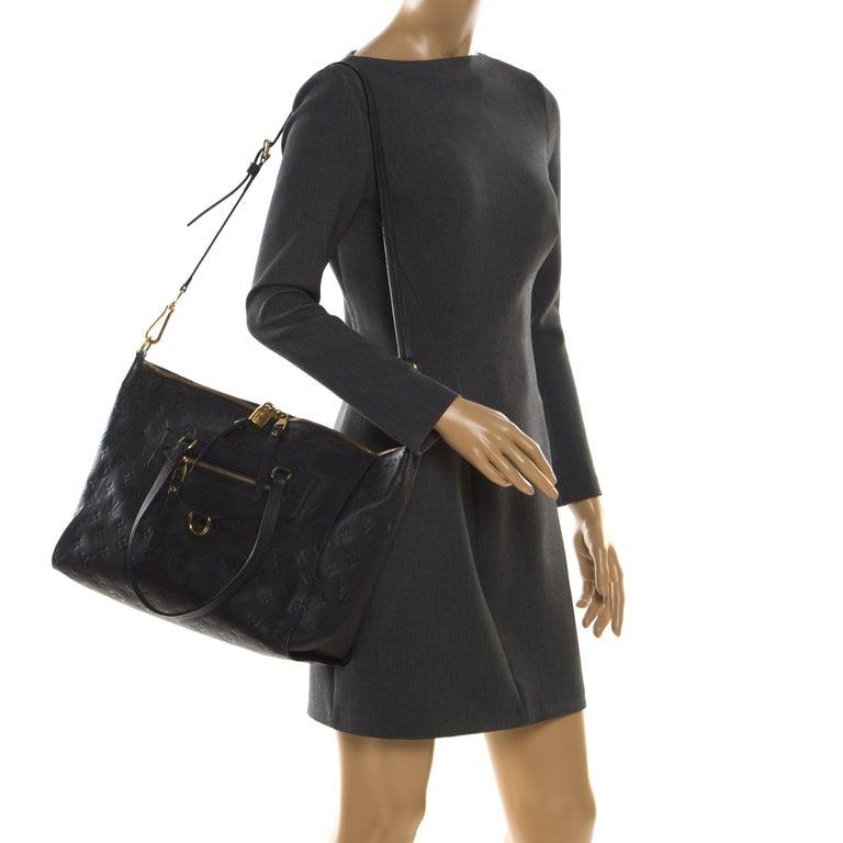 Louis Vuitton Black Empreinte Leather Lumineuse PM Bag In Good Condition For Sale In Dubai, Al Qouz 2