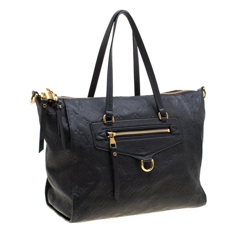 Women's Louis Vuitton Black Empreinte Leather Lumineuse PM Bag For Sale