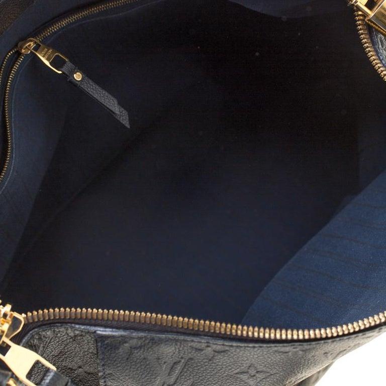 Louis Vuitton Black Empreinte Leather Lumineuse PM Bag For Sale 3
