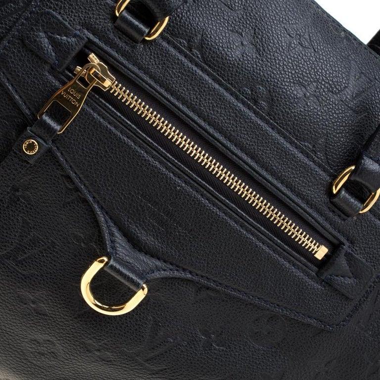 Louis Vuitton Black Empreinte Leather Lumineuse PM Bag For Sale 4