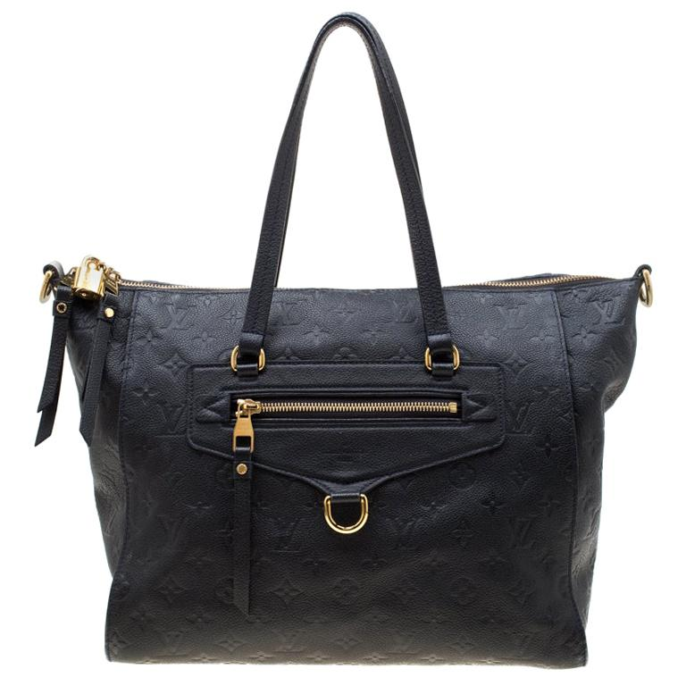 Louis Vuitton Black Empreinte Leather Lumineuse PM Bag For Sale