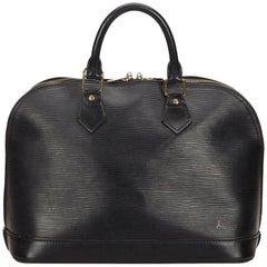 Louis Vuitton Black Epi Alma PM