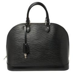 Louis Vuitton Black Epi Leather Alma GM Bag