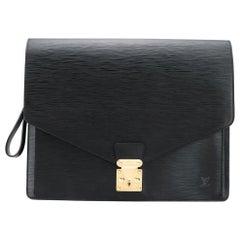 Louis Vuitton Black Epi Leather Big Size Senateur Briefcase